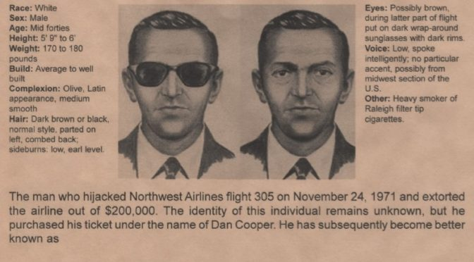 Hunting for D.B. Cooper – A study in analytics.